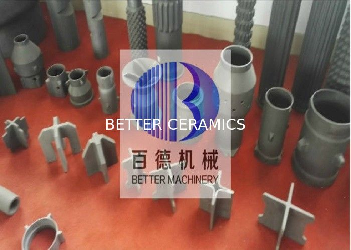 Length Customized Ceramic Heat Exchanger , Silicon Carbide Burner 8 Thickness