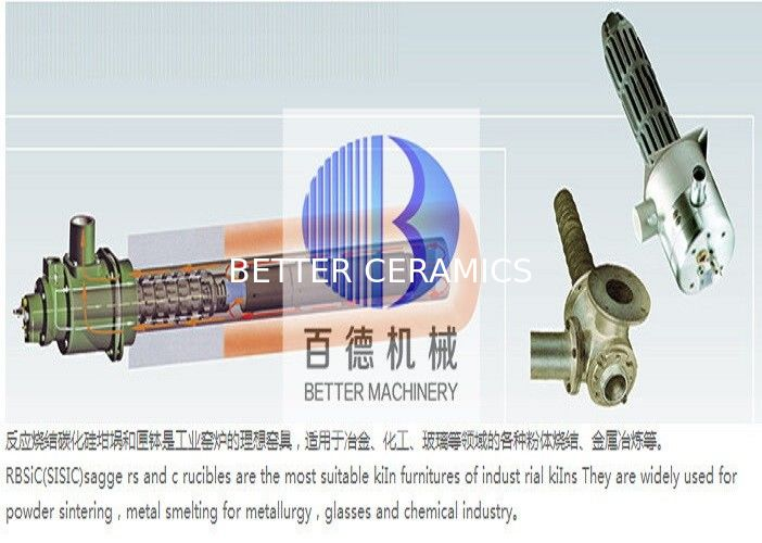 Wear Resistance SIC Heat Exchanger , Ceramic Heat Exchanger Length Customized