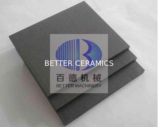 Wear Resistant Silicon Carbide Plate , Ceramic SIC Plate ISO 9001 Approved